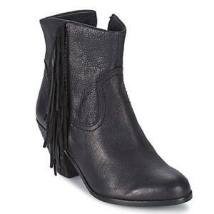 Sam Edelman - LOUIE Black low boot with fringe